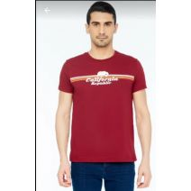 FULLA burgundy Men T Shirt - XXL