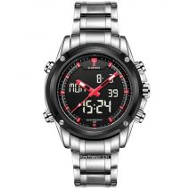 NAVIFORCE 9050 Sport Clock Men's Quartz Wrist Watch Military Watch For Men Full Steel