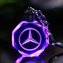 Crystal Car Crafts With Changing Colors LED