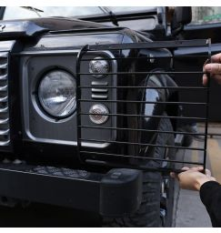 For Land rover Defender 110 04-18 Stainless Steel Black Car Front Headlight + Rear Tail Light Lamp Cover Trim Car Accessories