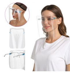 1/2/3/5/10PC Safety Transparent Face Mask Full Face Sheild Reusable Protection Cover Mask Anti-Splash Mouth Mask Glasses J60