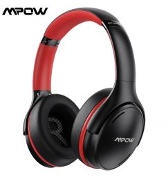 Mpow H19 IPO Noise Canceling Bluetooth Headset Foldable Design Rapid Charge Wireless Earphone with CVC 8.0 Mic 35 Hours Playtime