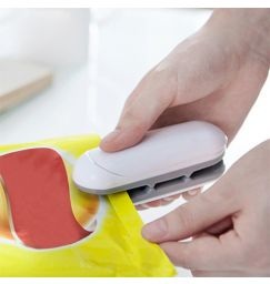 Mini Portable Food Sealer Snack Bag Clip Hot Sealer Candy Blend Color Home Kitchen Store Electric Appliances Tools Small Items