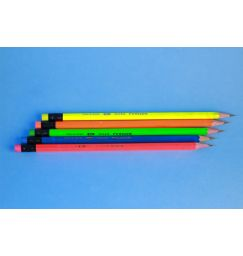 Color Changing Mood Pencil with Eraser - Graphite Pencil - Made of wood, Set of 6