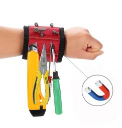 Magnetic Wristband Magnet Arm Band 10 Strong Neodymium Magnets Embedded Throughout Wristband For Holding Screws, Bits, And More