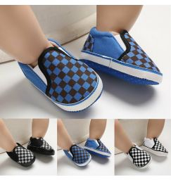 2019 Baby Soft Sole Crib Shoes Infant Boy Girl Plaids First Walker Toddler Anti-Slip 0-18 Months