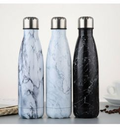 500ML Water Bottle Vacuum Insulated Flask Thermal Sport Chilly Hot Cold Cup Stainless Steel Creative Water Bottle
