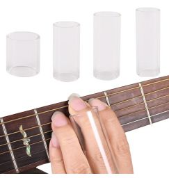 Transparent Glass Guitar Bass Slider Tube Finger Protection Sleeve Accessories guitar pick accessories 60mm length