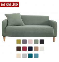 Jacquard Solid Color Elastic Sofa Cover Spandex Modern Corner Sofa Couch Stretch Slipcover Sofa Chair Protector Living Room