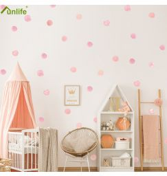 Funlife Aquarelle Ink Dot Wall Stickers For Kids Baby Room Decoration Girl's Room DIY Wall Stickers Nursery Babykamer Wall Decor