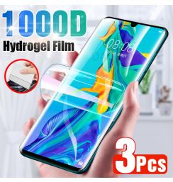 3Pcs Screen Protector For Huawei P30 Pro P20 Lite P40 P10 Full Cover Hydrogel Film For Mate 10 20 30 40 Pro Lite P Smart 2019 Z