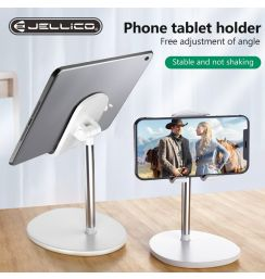 Jellico Desk Mobile Phone Holder Desktop Stand For iPhone Universal Adjustable Metal Desktop Table Tablet Holder Stand For iPad