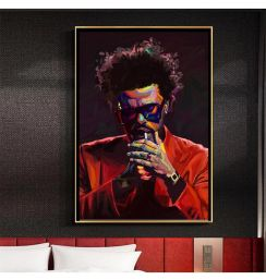 The Weeknd Blinding Lights Starboy Rap Music Album Poster And Print Wall Art Canvas Painting Picture For Bedroom Home Decoration