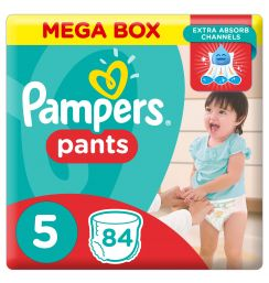 Pampers Pants Diapers, Size 5, Junior, 12-18 kg, Double Mega Box,168 Count - 191204115