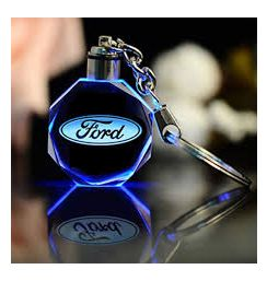 Crystal Car Crafts With Changing Colors LED Ford- 190601088