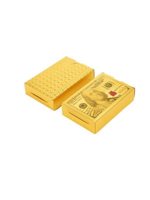 High Grade 24K Gold Foil Poker Lattice Grid Pattern Playing Cards - 180704019