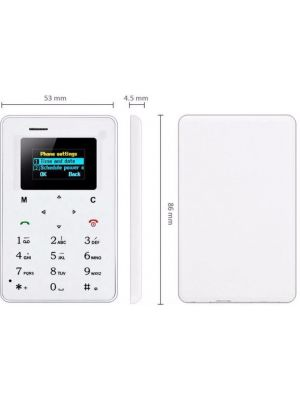 M5 Card Cell Ultra Thin Pocket Mini Phone