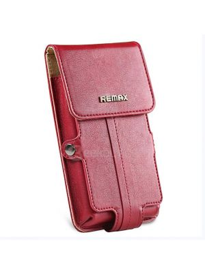 iPhone 6 REMAX Pedestrian Series Leather Case - Red Case