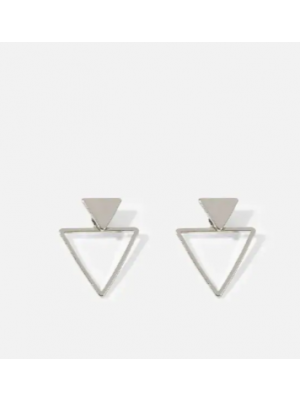 Double Triangle Shaped Stud Earrings 1pair