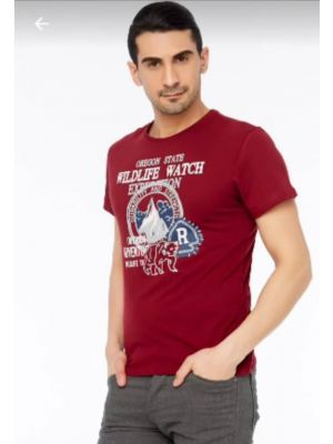 FULLA  Burgandy Men T Shirt - XXL