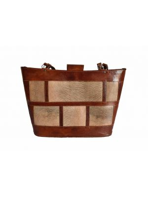 Brown Natural Leather Bag from Shamo