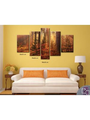 Wall Printed Canvas  5 Pieces