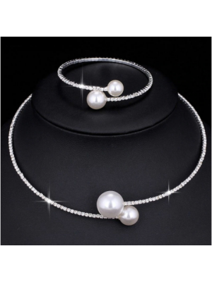 Pearl necklace and Bracelet - 191201023