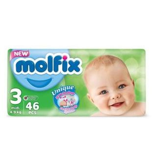 Molfix Baby Diapers size 3- 46 pieces