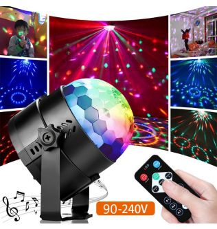 Sound Activated Rotating Disco Ball Party Lights DJ Strobe Light 5W RGB LED Stage Lights For Christmas Home KTV Wedding Show