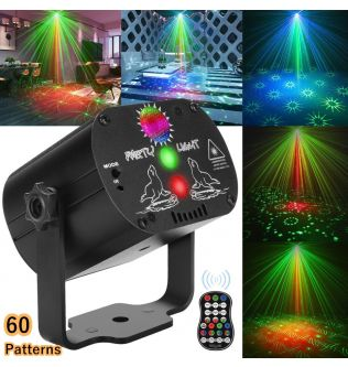 NICLUX Disco Lights RGB LED Stage Beam Lights with Strobe Flash Effects DJ Laser Stage Projector Lights for Party/Show/Dancing
