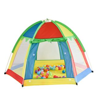 Indoor Outdoor Hexagonal Children's Tent Seven-color Rainbow Breathable Toy Playhouse Princess Castle Kids Play House
