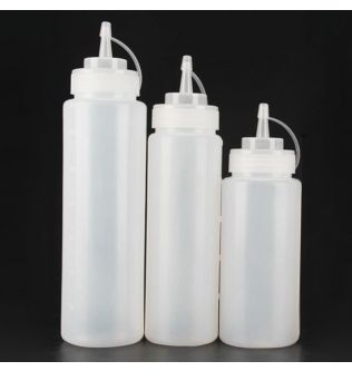 240ml/360ml/450ml Squeeze Condiment Bottles With On Cap Lids Ketchup Mustard Hot Sauces Olive Oil Bottles Kitchen Accessories
