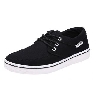 Fashion Men Casual Sneakers Black Shoes Flat Trainers Canvas Shoes Outdoor Casual Shoes Comfortable Summer Sneakers For Men