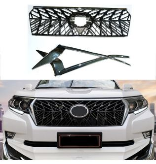 Modified For Prado Front Grill For Land Cruiser 150 Prado LC150 J150 2018 2019 2020 Front Racing Grills Cover Bumper Grilles
