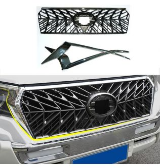 Modified For Prado Racing Grill For Land Cruiser Prado 150 LC150 J150 2018 2019 2020 Front Bumper Grilles Mesh Cover Grill Mesh