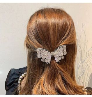 Fashion Earring Women Crystal Bow Rhinestone Hair Clip For Children Barrettes Fashion Waterdrop Cute Hairpins Hair Accessories