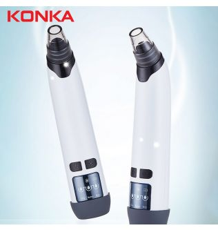 Konka Electric Blackhead Remover White Deep skin care  Face Care Pimples Tools Vacuum Pore Cleaner Acne Comedones Removal