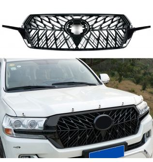 Modified For Land Cruiser Front Grill For Land Cruiser 200 LC200 2017 2018 2019 2020 Front Racing Grills Mesh Bumper Grille