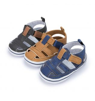 New Baby Boy Girl Shoes Sandals Summer Canvas Anti-Slip Rubber Sole Non-slip Toddler Newborn First Walker Crib Shoes 10-colors