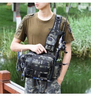 Multifunctional Fishing Bags Outdoor Sports Waist Pack Fishing Lures Gear Storage Bags Single Crossbody Bags.