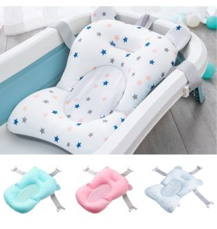 Baby Bath Pad Portable Universal Floating Non-slip Infant Bath Tub Cushion Pillow and Support Seat for Newborn 0-12 Months