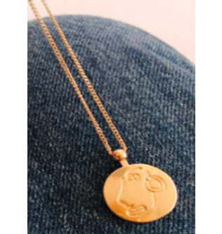 Coin simple jewelry necklace pendant