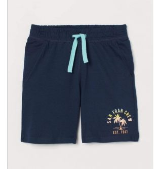 H&M Cotton Blue Shorts For Kids 7-8 Years