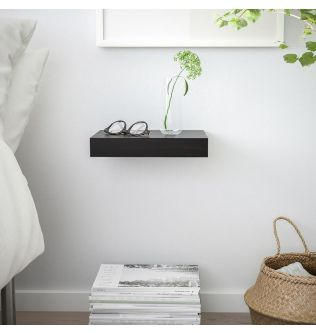 IKEA LACK Wall shelf, black-brown30x26 cm