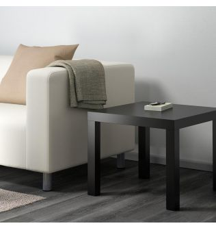 IKEA LACK Side table, black 55x55 cm