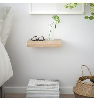 IKEA LACK Wall shelf, white stained oak effect 30x26 cm