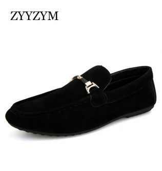 ZYYZYM Men Loafers Shoes Spring Summer Casual Shoes Slip On Light Flock Youth Men Shoes Breathable Flat Footwear