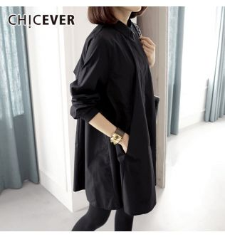 CHICEVER 2020 Spring Women Tops And Blouses Shirts Lapel Long Sleeve Loose Plus Sizes Casual Blouse Fashion Clothes Tide