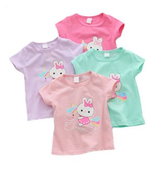 Casual Baby Girl Summer Clothes Birthday Baby Girl Shirts Clothing