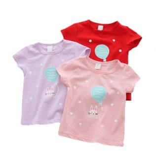 2019 Baby Girl T Shirts Tops Cotton Shorts t-shirts Casual Baby Girl Summer Clothes Birthday Baby Girl Shirts Clothing